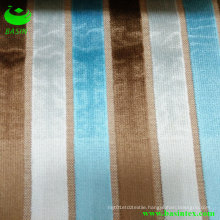 Three Colors Stripe Velvet Sofa Fabric (BS4012-17)