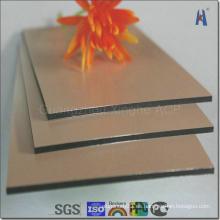 Plata y espejo de oro hecho frente al panel compuesto de aluminio (XH005)