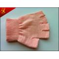 Coton rose, gants de travail
