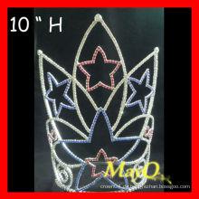 Großhandels-10''H große große patriotische Stern-Festzug-Krone
