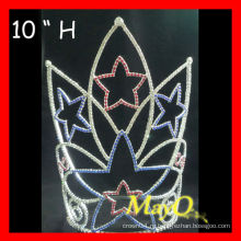 Оптовая 10''H Большой высокий патриотический Starant Pageant Crown