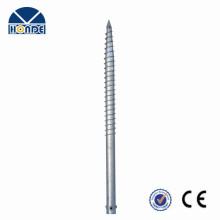 Feuerverzinkter Stahl Q235 Bodenschraube mit 3 Muttern