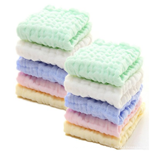 Mehrfarbige Baumwollbaby-Musselin-Waschlappen
