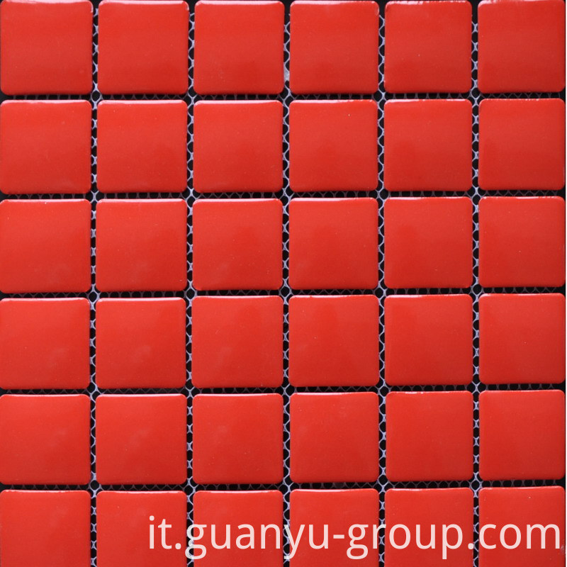 China Red Porcelain Mosaic Tile