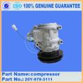 Komatsu parts D85A-21 bulldozer parts air compressor 20Y-979-3111