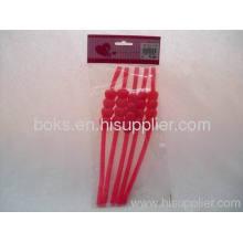 Hot Sale Plastic Valentine Flexible Drinking Straws