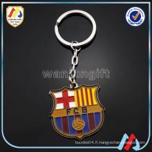 Nouveau design personnalisé FC club de football doux en émail en alliage de zinc chaîne en métal