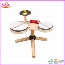 2014 Hot Sale Wooden Kids Drum Toy, New Fashion Children Drum Toy, High Quality Baby Wooden Drum Toy W07j002
