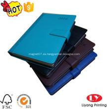 Cuaderno de diario PU con imán de impresión