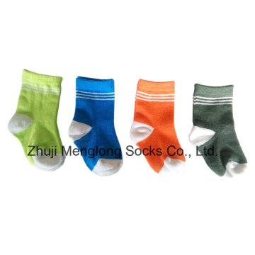 Оптовая продажа милый ребенок хлопчатобумажные носки из хлопка покрыты нейлоновой пряжи