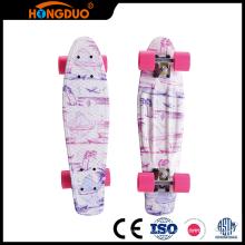 Best sale cheap good kids 4 wheels fish longboard skateboard for sale