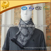 mens jacquard brushed silk scarf wholesale