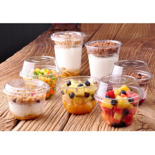 Disposable Clear Plastic Pet/PP Cup for Beverage with Lid