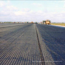 Factory Supply Road Construction Low Elongation Warp Knitted Polyester Geogrid