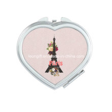 Romantic Eiffel Tower Modern Wedding Makeup Mirror