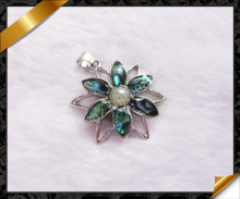 Shell Pendant Jewelry, Natural Paua Shell Pendant, Wholsesale Abalone Shell Jewelry Pendant (APS015)