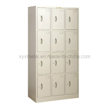 Estrutura de aço Knock Dwon Metal Wardrobe Locker with 12 Doors