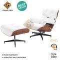 Diseño clásico madera cuero Chaise Lounge Chair (GV-EA670)