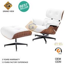 La conception classique en bois cuir Chaise Lounge Chair (GV-EA670)