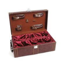 Leather Wine Case PU Wine Box (HX-W2949)