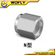 China Marca de fábrica AFK Tuerca de conexión del tubo del acero inoxidable