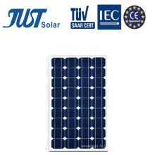 Panneaux solaires mono 80W à économie d'énergie verte dans une usine chinoise