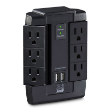 Surge Protector 6-AC Outlet Swivel with 2 USB Charging Ports