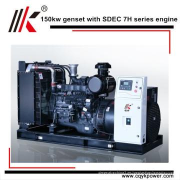 Precio de generador diesel portátil principal de la salida 180kva 150kw con el alternador de Stamford, generador de soldadura diesel portátil