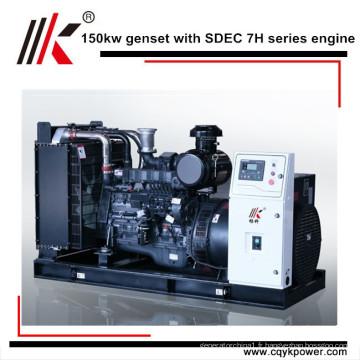 Prix diesel portatif de générateur de rendement principal de 180kva 150kw avec l'alternateur de Stamford, générateur diesel portatif de soudure
