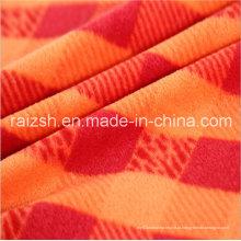 Poliéster impressão xadrez tecido fleece para Hat vestuário brinquedos