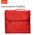 SUCI Custom Wholesale Red Pink Blank Make Up Case Makeup Canvas Cosmetic Bag