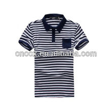 13PT1019 Latest fashion men striped polo shirt