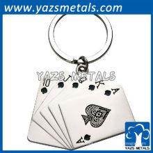 póker del metal llaveros personalizados