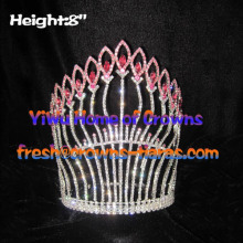 8inch Pageant Queen Crowns With Pink Diamond