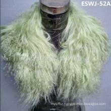Long Pile Natural Mongolian Fur Scarf Eswj-52A