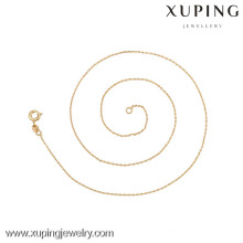 42617 (demi douzaine) -Xuping Fashion Necklace, collier mince d'or