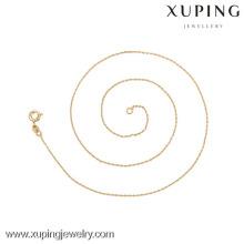 42617(полдюжины)-Xuping ожерелье мода золото тонкий ожерелье