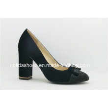New Fashion Square High Heels Leather Women Shoe