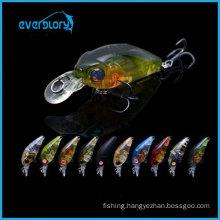 Mini Fishing Crank Baits 3.5g 35mm Fishing Hard Lures with Bkk Black Steel Hooks for Catching Black Sea Bream
