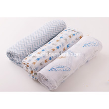 Baby swaddle  blanket  feather printed