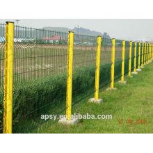clôture en métal courbée en poudre de couleur verte