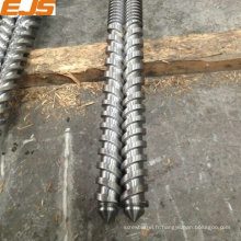 85x17D twin parallèle à vis et baril pour machine d'extrusion