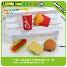 Мини милый сэндвич формы резиновая игрушка ластики