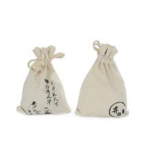 Venta al por mayor Nature Drawstring Cotton bag with logo