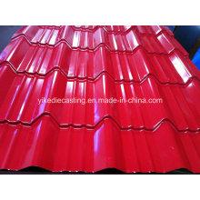 Toiture en acier ondulée galvanisée enduite de couleur de PPGI