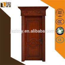 2015 твердая деревянная дверь с рамой/наличник главная дверь дизайн
