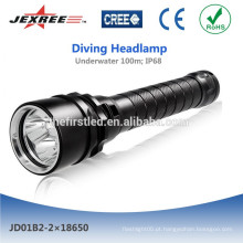 Jexree recarregável lanterna de mergulho LED