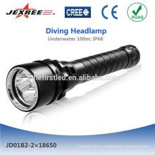 Jexree перезаряжаемый светодиодный фонарик для дайвинга