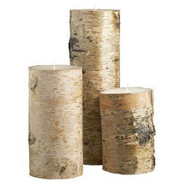 real birch bark candle 01