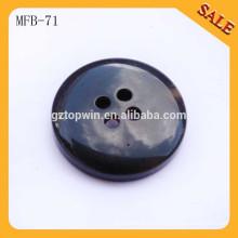 MFB71 Botón plástico de la capa de la resina del ABS de 4 agujeros de la alta calidad para la ropa